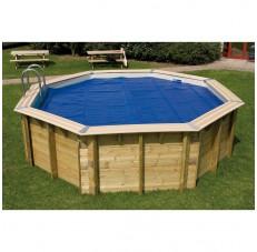 Couverture à bulle pour piscine bois